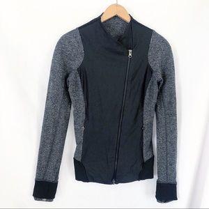 Lululemon yoga jacket sz 6 sz S black gray zip up
